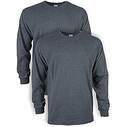 Camiseta de Manga Larga para Hombres Camiseta de Manga Larga Cuello Redondo Base de Color s/ólido Tops Tops Camisa de Manga Larga Slim Fit Basic Casual tee Sweater Blusa