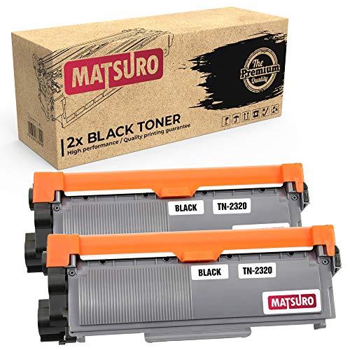 Matsuro Originale   Compatibili Cartuccia Del Toner Sostituire Per BROTHER TN-2320 (2 NERO)