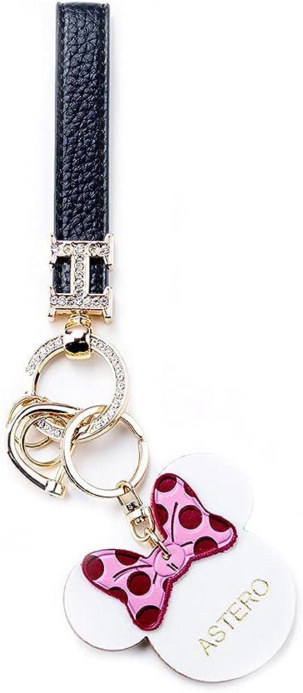 Genuine Leather Detachable Keychain Car Key Chain Key Ring Hand Wrist Lanyard Key Chain Men Women Wallets Handbag Decorates