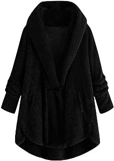 Winter Wool Coat Fashion Casual Women Hooded Plush Jacket Plus Size Loose Cardigan Outwear