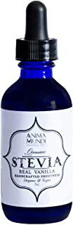 Anima Mundi Pure Stevia Leaf Extract - Organic + Vegan Vanilla Stevia Drops (2oz)