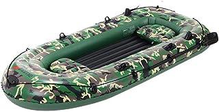 Dough.Q Barca Hinchable, 4 plazas Bote Inflable Balsa Hinchable para Rafting con 2 remos y Bomba de pie y Cuerda de Seguridad y Otros Accesorios