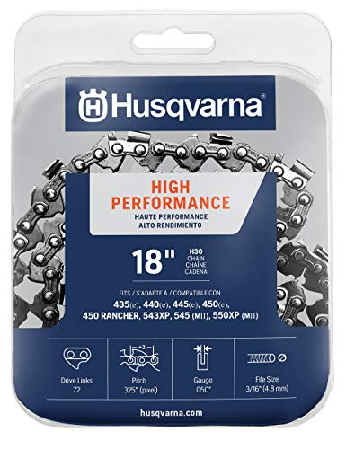 Husqvarna chainsaw chain 18-Inch .050 gauge .325 pitch low kickback low-vibration