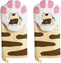 KESYOO 1 Pair Oven Mitts Cat Paws Heat Resistant Oven Gloves Non Slip Kitchen Baking Fireplace Grill BBQ Gloves