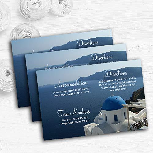Griekenland Santorini Gepersonaliseerde Bruiloft Gast Informatie Kaarten 20 Cards