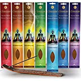 Chakras Incense Sticks, Perfect For Meditation, Reiki, Yoga, Relaxation, & Healing. Natural Hand Dipped Incense Variety Set, Cleanse & Purify Your Space. Made With Natural Bamboo For A Clean Burn