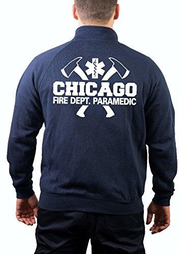 feuer1 Sweatjacke Navy, Chicago Fire Dept. mit Äxten - Paramedic