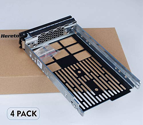Heretom 4 Pezzi 3,5 Pollici SAS SATA Disco Rigido HDD Tray Caddy Vassoio F238F Per Dell PowerEdge R730 R720 R710 T710 R630 T620 R610 T610 R530 R520 R420 T420 R320 T320 MD1400 MD3600