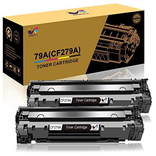 ONLYU Cartucho de Tóner Compatible Repuesto para HP 79A CF279A para HP Laserjet Pro MFP M26 M26nw M26a HP Laserjet Pro M12 M12w M12a Impresora (2 Negro)