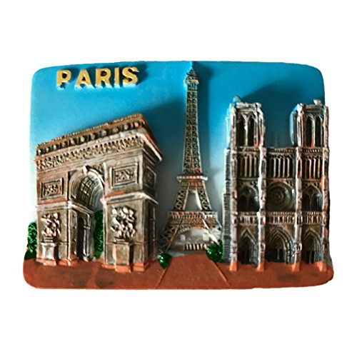 Wedare France Paris 3D Refrigerator Magnet Tourist Souvenirs Sticker,Resin Craft Fridge Magnet Home & Kitchen Decoration