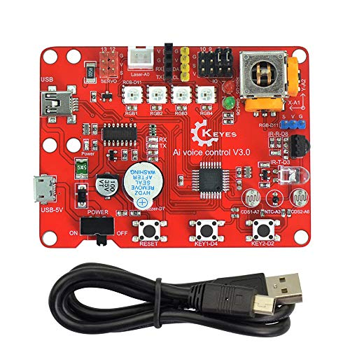 DIY Reemplace los accesorios ATMEGA328P AU-Ai V3.0 tablero de control de voz compatible con el sensor de rojo y ecológico