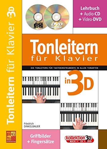 Tonleitern für Klavier in 3D (1 Buch + 1 CD + 1 DVD)