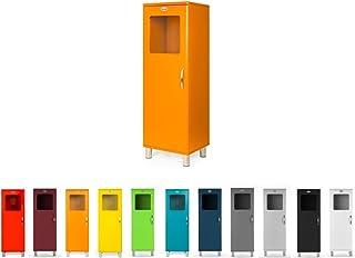 TENZO Malibu Designer Rangement 1 Porte Lucarne L 50, Panneaux de Particules & MDF, Orange, 50 x 41 x 143 cm