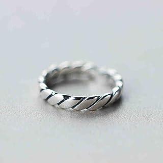 Lozse Anelli regolabili Apertura della banda di S925 Sterling anello in argento anello