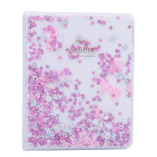 Instax Mini Fotoalbum Transparant Mini Fotoalbum 9.7 * 5.5 * 0.4inch Fotoboek Album, voor Mini Camera 3 inch Fotos(pink)