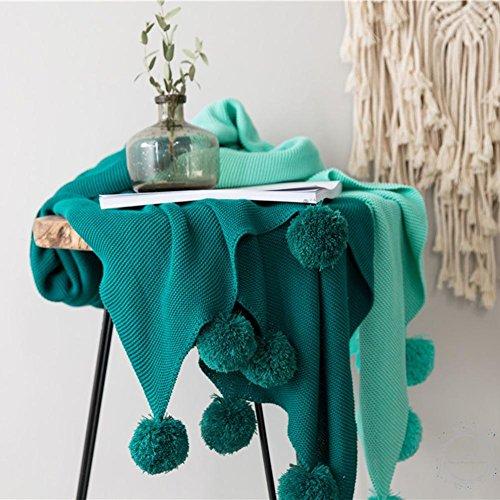 Cosy-L Couverture Plaid Grande Qualité Cotton Couverture manteau couvre-lit enfants ou adultes Blanke Tapis QM031, Green, 130*180cm