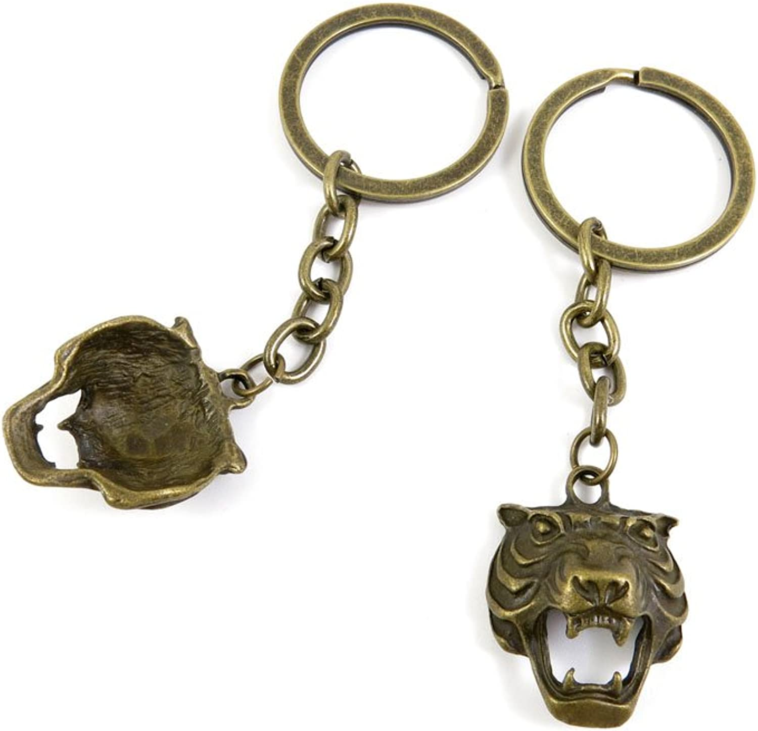 140 Pieces Fashion Jewelry Keyring Keychain Door Car Key Tag Ring Chain Supplier Supply Wholesale Bulk Lots H6TX8 Leopard Head