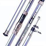 Seaquest Yongshi 420 Canne da Surfcasting4.2m 4pieces Telescopic Surfcasting Rod Carbon Su...