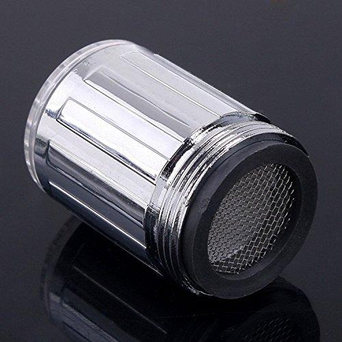 365-Shopping 2er Set Wasserhahn-Aufsatz mit automatischem Farbwechsler durch Wasserkraft – 7 LED Farbwechsler LED Shower mit Beleuchtung - 3