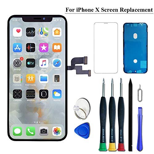 VANYUST for iPhone X Screen Replacement OLED 5.8 inch [NOT LCD] Touch Screen Display Digitizer Repair Kit Assembly with Complete Repair Tools and Screen Protector