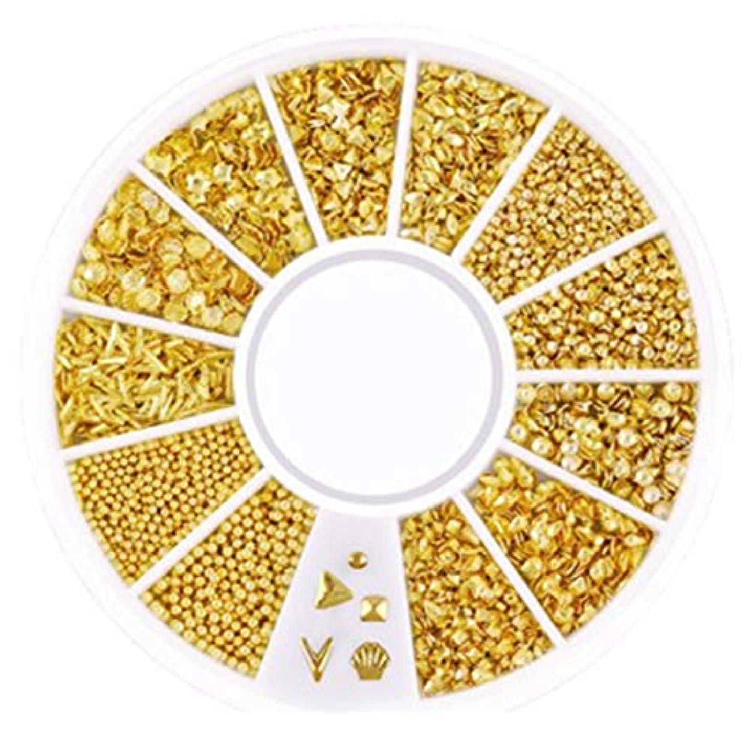 学士大工お誕生日TOOGOO 3d中空ネイルアートデコレーション混合形状の幾何学ゴールデンチップdiyネイルアートツールファッションネイルデコレーションステッカーXy-05