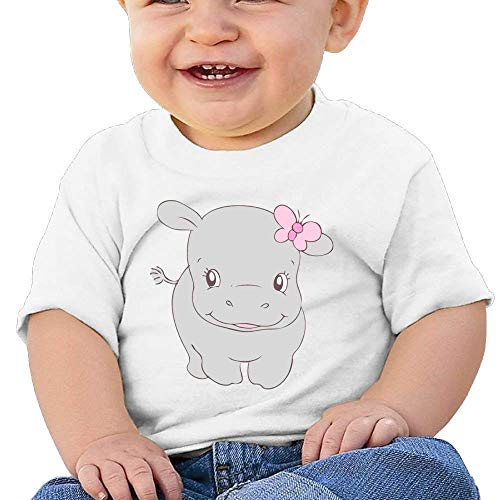 Pmguerxbfhyd Infant Short Sleeves T Shirt Cute Butterfly Hippo for Baby Girl Boy