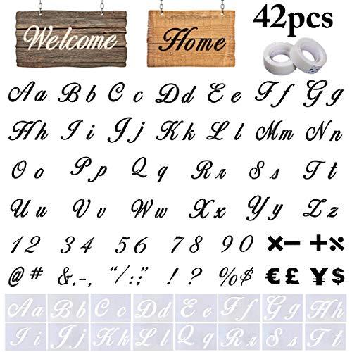 Letter Stencils, Outgeek 40PCS DIY Alphabet Templates