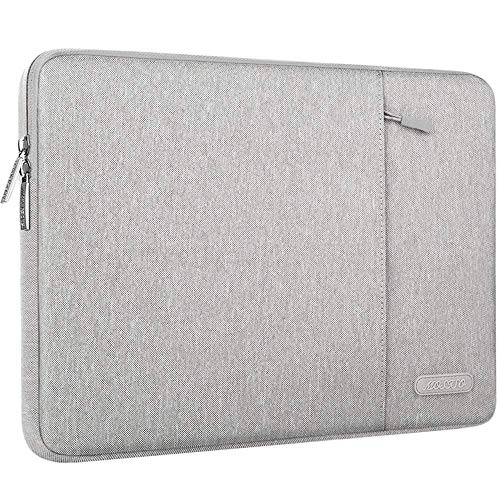MOSISO Laptophülle Kompatibel mit 13-13,3 Zoll MacBook Air, MacBook Pro, Notebook Computer, Polyester Wasserabweisend Vertikale Stil Sleeve Hülle Schutzhülle Laptoptasche Notebooktasche, Grau