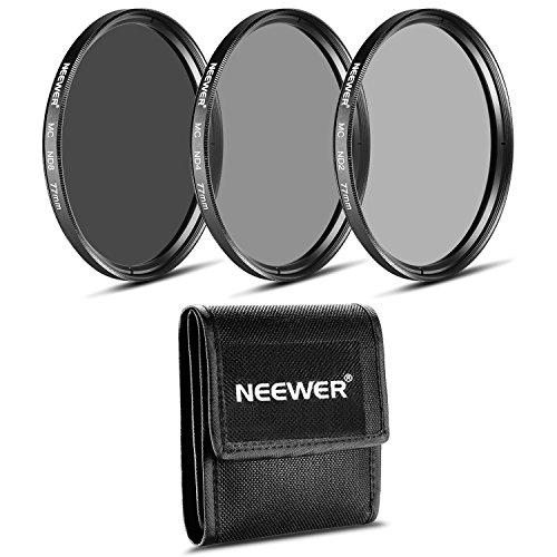 Neewer - Juego de filtros ND de 77 mm (ND2 ND4 ND8) para Canon EF 24-105mm f/4 L IS USM Zoom Lens, el Nikon 28-300 mm f/3.5-5.6G ED VR II AF-S Zoom Lens
