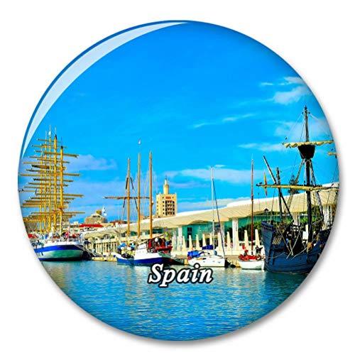 Puerta de España de Málaga Imán de Nevera, imánes Decorativo, abridor de Botellas, Ciudad turística, Viaje, colección de Recuerdos, Regalo, Pegatina Fuerte para Nevera