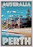 StickIt2Me Perth Australia Art Deco Retro Reise-Poster A4