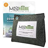 MOSO NATURAL: Stand Up Home Air Purifying Bag 600g. Fragrance Free, Chemical Free, Long Lasting, Moisture Absorbing, Odor Eliminator. for Bedrooms, Kitchen, Basement. Charcoal Color.