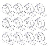 12 Pezzi Plastica Clip di Tovaglia Tavolo Copertina Holder Morsetto per Festa Picnic (Trasparente)