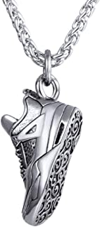 UMtrade Sneaker Shape Pendant,Gift for Men,Stainless Steel Sports Jewelry Gym Shoes Necklace