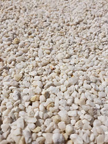 Der Naturstein Garten 25 kg Quarzkies 2-5 mm weiß - Zierkies Quarzsand Splitt Kies Lieferung KOSTENLOS