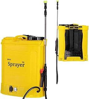 Pompa Nebulizzatore da Spalla Irroratrice Alimentazione a Batteria 12Ah Ricaricabile Capacità 16Lt Pressione 2-3 BAR Asta ...