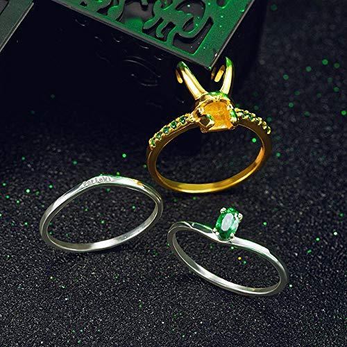 ADUDNRM Jewelry Loki Anello Raytheon Thor Argento Anelli Accessori di Gioielli delle Donne