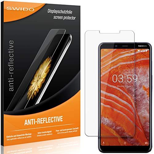 SWIDO Schutzfolie für Nokia 3.1 Plus [2 Stück] Anti-Reflex MATT Entspiegelnd, Hoher Härtegrad, Schutz vor Kratzer/Folie, Displayschutz, Displayschutzfolie, Panzerglas-Folie