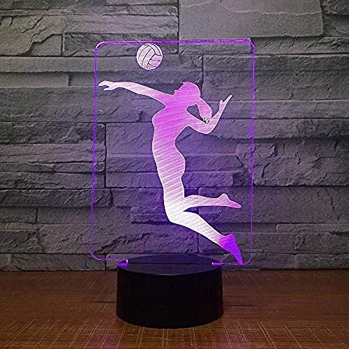 Creativa Luz de Noche Creativa de Voleibol Táctil de Luz de Noche Interruptor 3D de los Niños Luces Decoraciones de Navidad 3D Luces