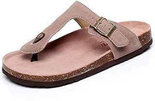 Hombre Mujer Zuecos Sandalias Unisex Adulto Chanclas Vestir Punta Descubierta Corcho Zapatillas Playa Verano Casa Zapatos