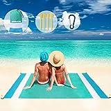 SGODDE Alfombra de Playa Esterilla Toalla, 210x200cm Manta Picnic Impermeable...