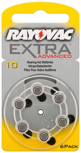 Appareils auditifs Rayovac Extra Advanced de cellules – Varta/V 10 (PR70/HA10) BL 6 de Rayovac Advanced