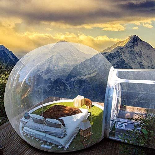 Jakroo Inflable Bubble Tent House Al Aire Libre Túnel Familia Cámping Patio Transparente Carpas Domo de Aire con soplador de Exhibición de Productos Publicidad Evento Exposición