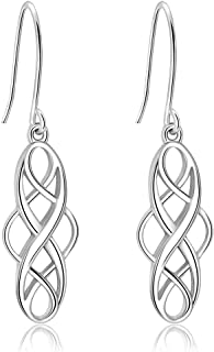 925 Sterling Silver Earrings Good Luck Polished  Irish...