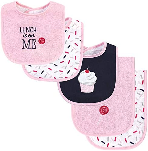 Hudson Baby Unisex Baby Cotton Terry Bib and Burp Cloth Set Cupcake One Size product image