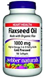 Webber Naturals Flaxseed Oil Cold Pressed Softgels, 180 Count