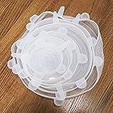 6 pezzi di packaging riutilizzabile imballaggio alimento del silicone coperchio di sigillatura del coperchio di sigillatura del coperchio del silicone del coperchio del silicone del coperchio del cope