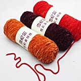 Lai-LYQ Hilo De Lana De Tejer, Tejer Crochet Pleuche Hilo De Terciopelo Hilo Tejido A Mano Accesorios De Costura De Bricolaje Material De Bricolaje Colores Variados 6#