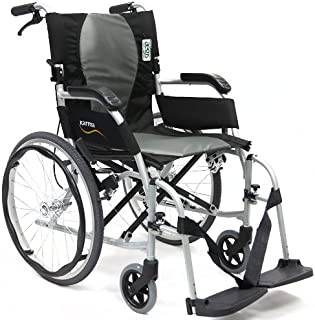 """Karman Ergonomic Wheelchair Ergo Flight with Quick Release Axles in 16"""" Seat, Pearl Silver Frame"""