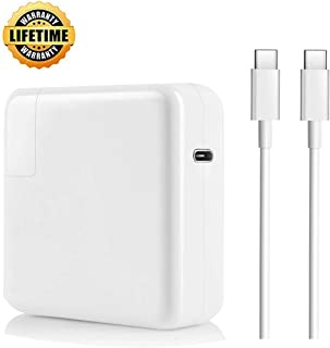 Hebest USB C Charger MacBook Pro Charger, 61W USB-C Power Adapter Thunderbolt 3 Ports Replacement Charger for Mac Book Pro 13 Inch with Type C Charge Cable(After 2016)